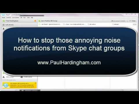 how to stop skype notifications from chat groups