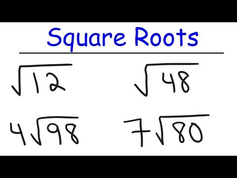 How To Simplify Square Roots