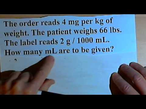 Drug Calculations - problems involving patient weight  105