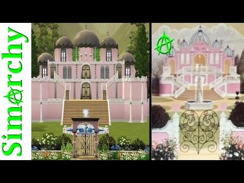 The Sims 3 Let's Play Alice in Wonderland - Queen of Hearts Castle Courtyard Garden Speed Build Pt 1