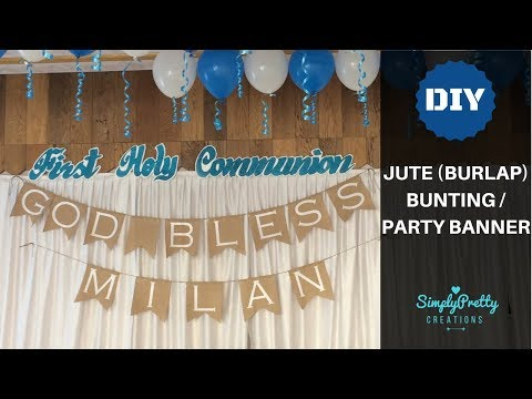 How to make a Jute (Burlap) Bunting / Party Banner |Event Decor| SimplyPrettyCreations
