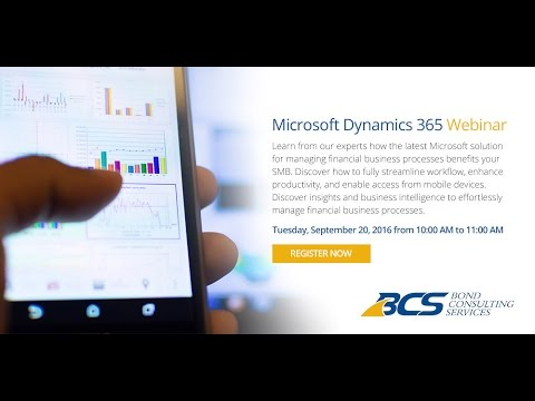 Inside Microsoft Dynamics 365 for Financials Demo + Webinar (Full)