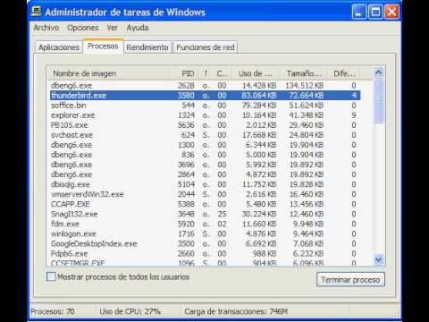 Mozilla Thunderbird Memory usage: start, check-mail, minimize
