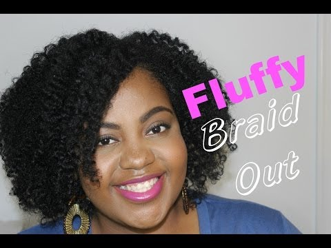 Fluffy Braid Out on Thin/Fine