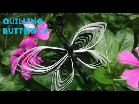 How to make Quilling Butterfly -Tutorial/DIY Butterfly/ Quilling Butterfly Designs