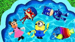 Learn Colors with Paw Patrol, Spiderman, Pj Masks, Barbie and Peppa Pig Learning Toys for Kids
