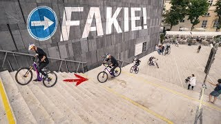 Riding backwards down 2 stair sets: Behind the Scenes of Urban Freeride Lives in Vienna