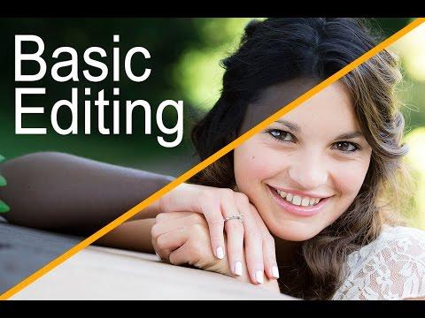 Adobe Photoshop CS6 - Basic Editing Tutorial For Beginning Photographers