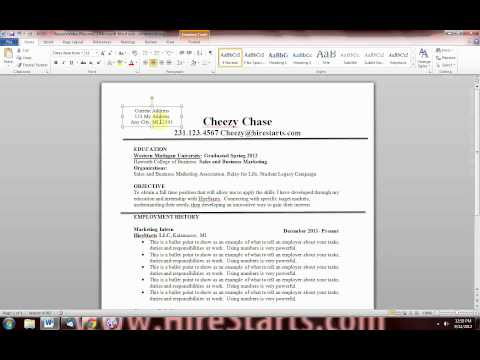 How to Make a Resume in Word - Part 2
