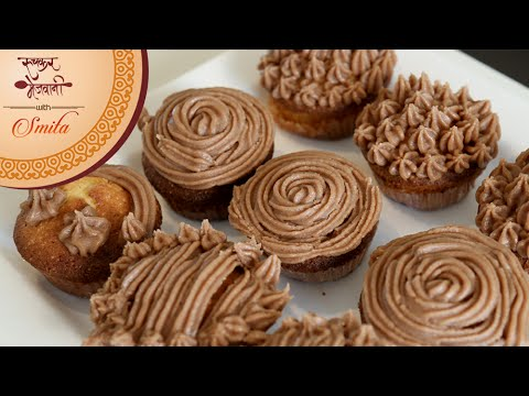 Vanilla Cupcake With Chocolate Frosting | Easy To Make Cupcakes | Recipe by Smita Deo