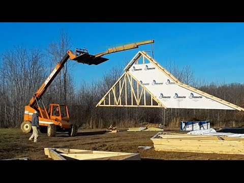 Install Trusses on a New House Project