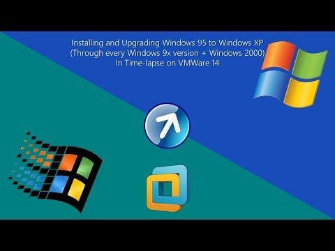 Upgrading Winodws 95 to Windows XP on VMWare 14 (Timelapse Edition)