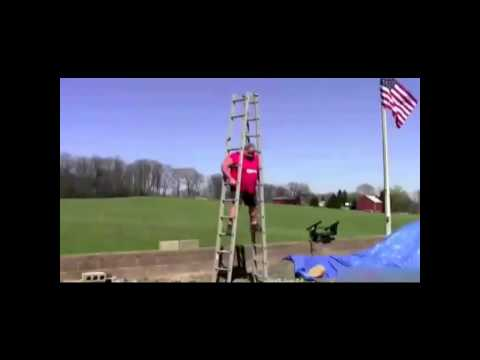 TV Magic - How not to use a ladder - Ladder safety