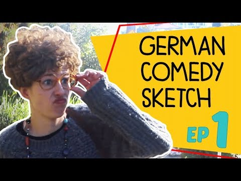 Basic Conversation in German - Comedy Sketch (Translation in Description)