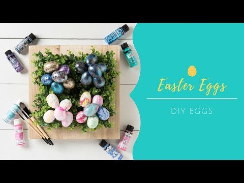 4 Cute DIY Easter Egg Ideas | Marbling, Galaxy, Watercolor & Glitter