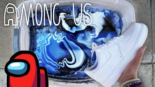 Custom 'AMONG US' Hydro Dip👟🎨 Air Force 1!! | MARKO
