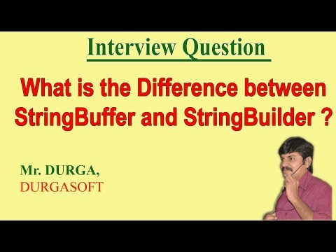 Difference between StringBuffer and StringBuilder