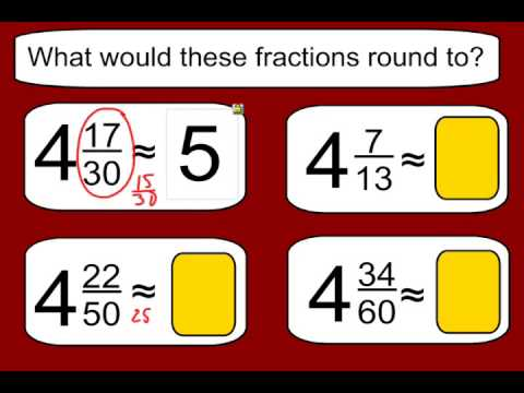 Estimating Sums and Differences with Fractions