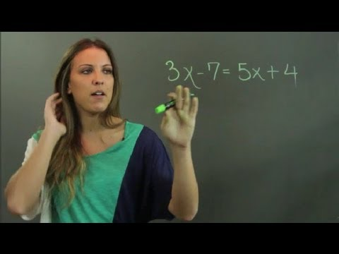 How to Solve Linear Equations With Variables on Both Sides : Linear Algebra Education