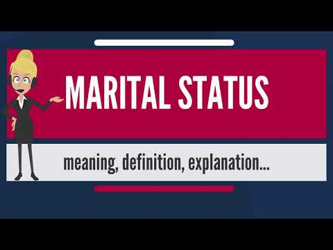What is MARITAL STATUS? What does MARITAL STATUS mean? MARITAL STATUS meaning & explanation