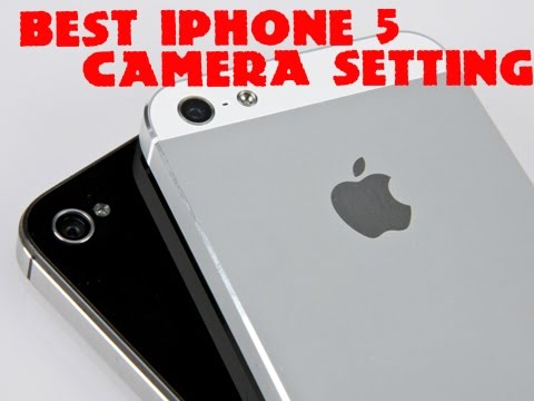 iphone 5 photo and camera settings