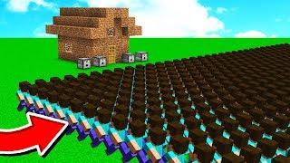 1,000 FANS vs WORLDS WORST MINECRAFT HOUSE!