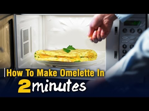 How To Make Omelette In 2 Minutes In Microwave