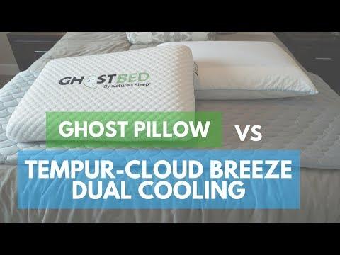 Pillow Reviews: GhostPillow vs. Tempur- Cloud Breeze Dual Cooling