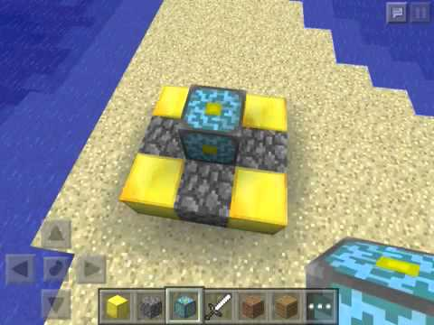 How to build the nether portal in minecraft pocket Edition