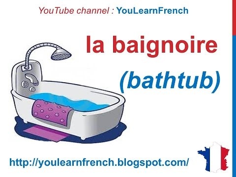 French Lesson 83 - Items things in the bathroom Vocabulary Dans la salle de bain Cosas en el baño