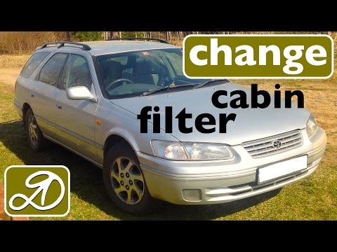 How to change the cabin filter on the Toyota Camry Gracia. Do it yourself