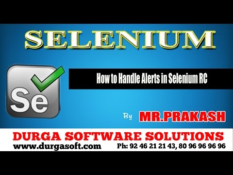 How to Handle Alerts in Selenium RC