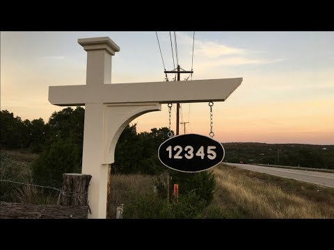 Building an Address Post and Sign