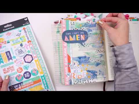 Learn How to Use Mixed Media Techniques in a Journaling Bible with Distress Oxide Inks