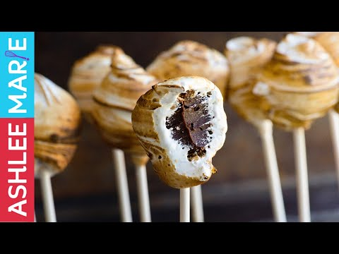 How to make Truffle S'more pops - with homemade marshmallow creme