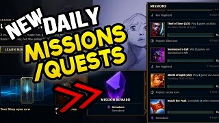 NEW DAILY MISSIONS / QUESTS! FREE GEMSTONES? League News (League of Legends