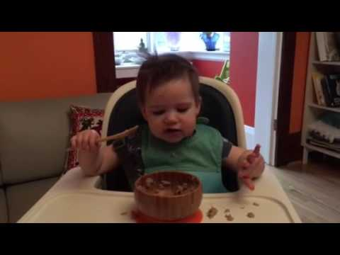 15 month old using spoon