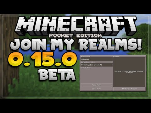 MCPE 0.15.0 // JOIN MY MCPE REALMS SERVER - Minecraft PE (Pocket Edition)