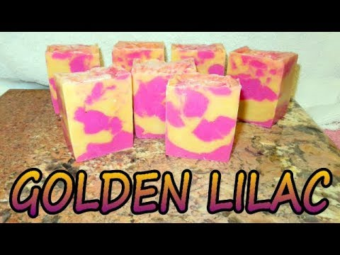 HOW TO MAKE GOLDEN LILAC COLD PROCESSED SOAP