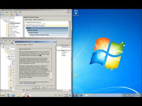 Server 2008 Lesson 17 - Changing Password Requirements in Group Policy