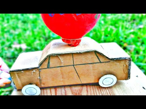 How To Make A Balloon Powered Car diy... Very Easy & Simple!!