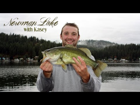 Bass Fishing Newman Lake with Kasey