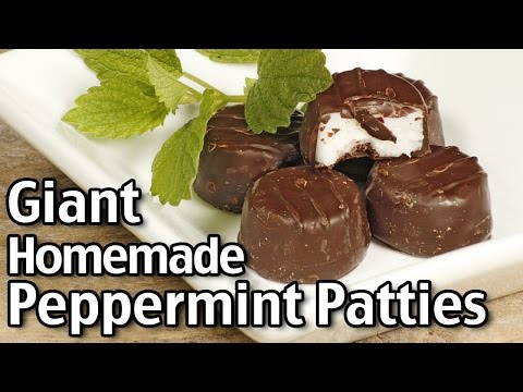 Easy Homemade Peppermint Patties And Giant Peppermint Patties!