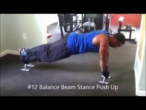 16 New Push Up Bar Exercises - Killer Chest in 60 Days