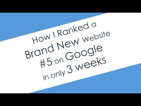 How We Ranked a New Website on Page 1 of Google in 3 Weeks!