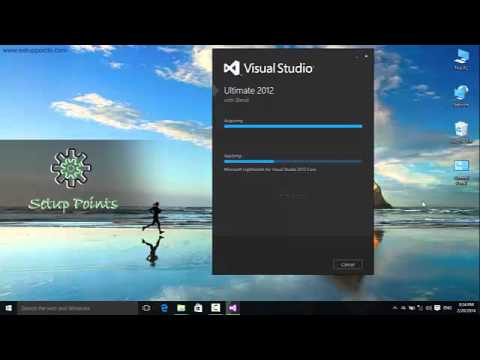 How to install Visual Studio 2012 in windows 10