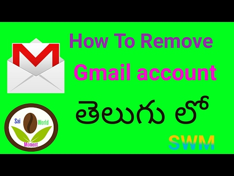 How to Remove Gmail account from Android Mobile in telugu