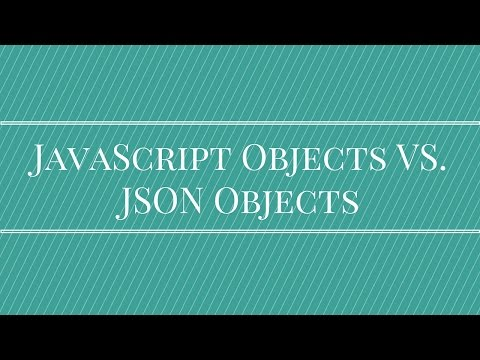 JavaScript Objects vs JSON Objects