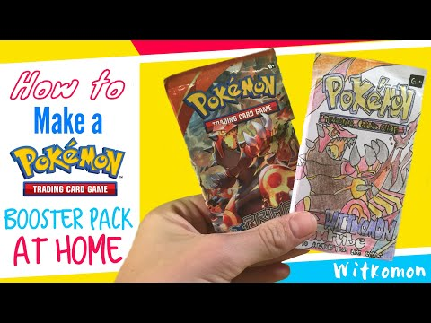 How to Make a Pokemon Booster Pack at Home!