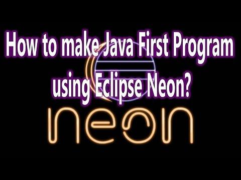 Run First Java Program using Eclipse Neon IDE